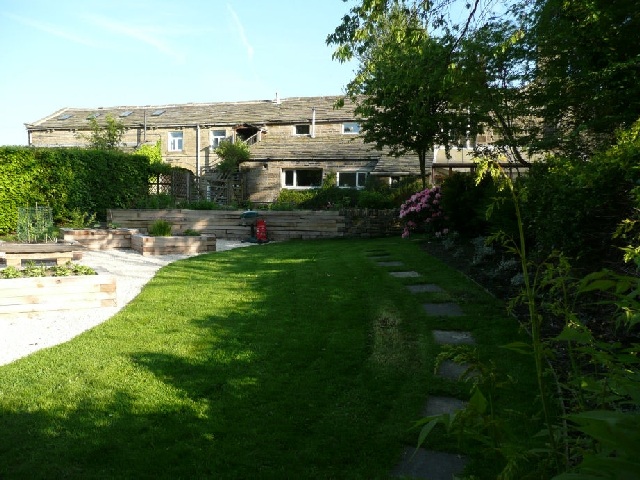 View of Garden After Landscaping Works.