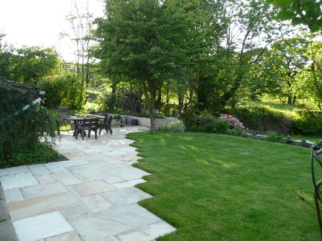 View of Upper Lawn Area After Landscaping.