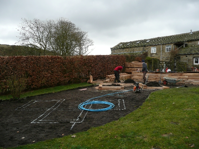 Marking out for the Raised Planters