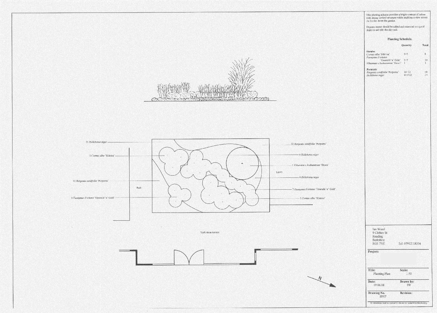 Planting schemes great scapes landscape design for Garden design planting schemes