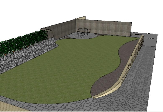 3D Design of Garden.
