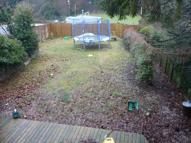 View of Garden from Balcony Before Work Commences.