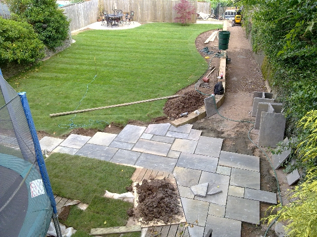 View of Garden from Balcony Whilst Garden is Under Construction.