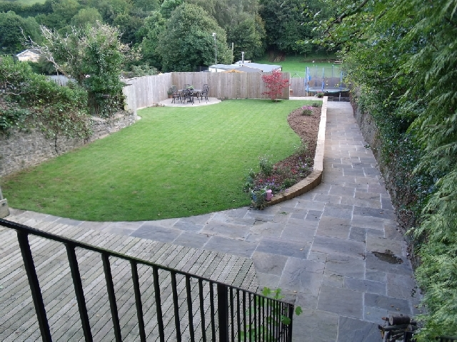 View of Garden from Balcony After Landscaping Works.