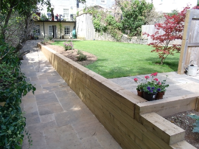 Sleeper Retaining Wall.