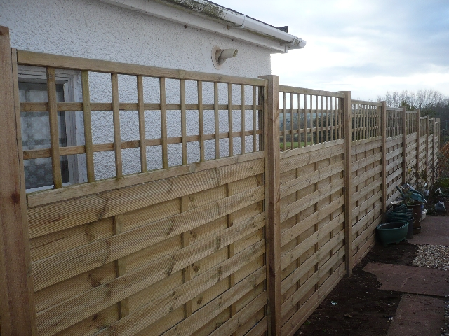 Panal Fence with Trellis